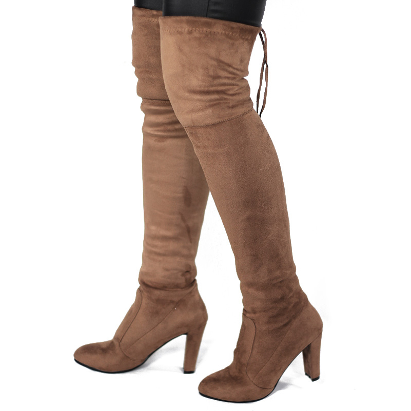 853d29086 US$ 56 - OneBling Faux Suede High Heels Over The Knee Boots Women - www. onebling.com