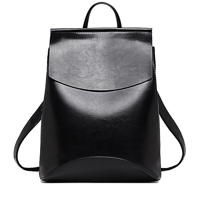 US  31.5 - Simple Style Women Backpack Fashion Teenager Girl Shoulder Bag  Quality Leather School Bags Handbag - www.onebling.com 23b67a7310371