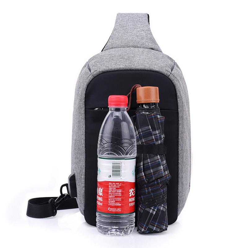 0af33581407b OneBling Anti-theft Waterproof Crossbody Chest Bag For Women Men Travel  Bags USB Charging Laptop Bag