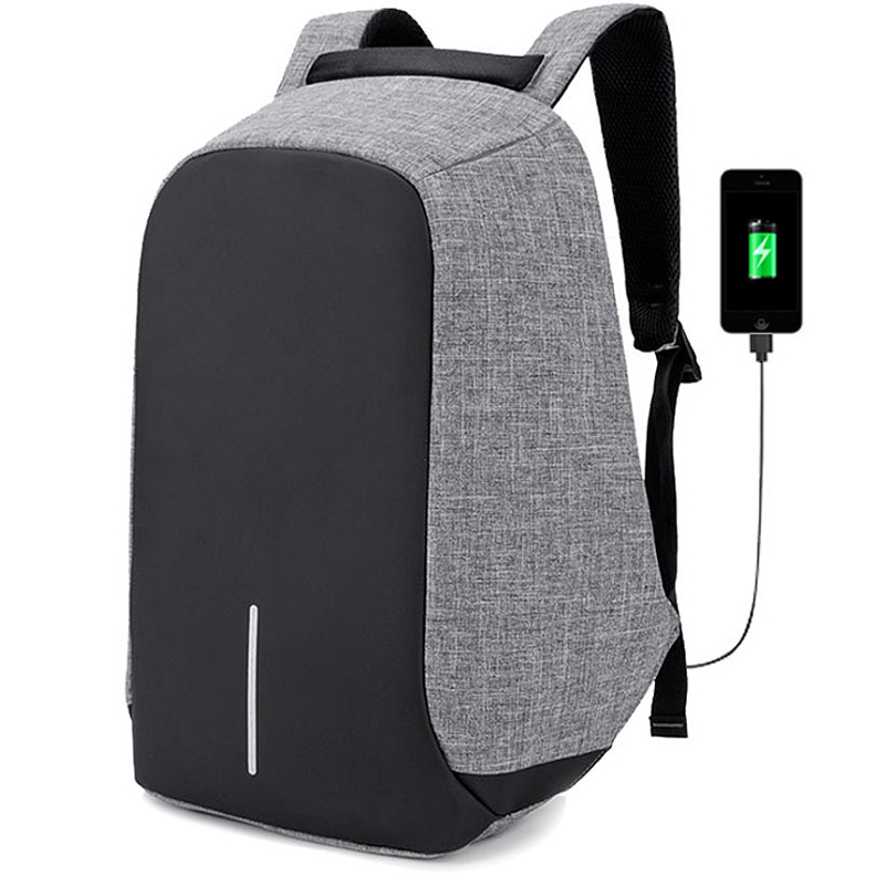 a58a414b40fc OneBling Anti-theft Full Hidden Zipper Design Men Large Capacity Backpack  Patchwork Women School Bag Creative USB Charging Port Laptop Bag Fashion ...