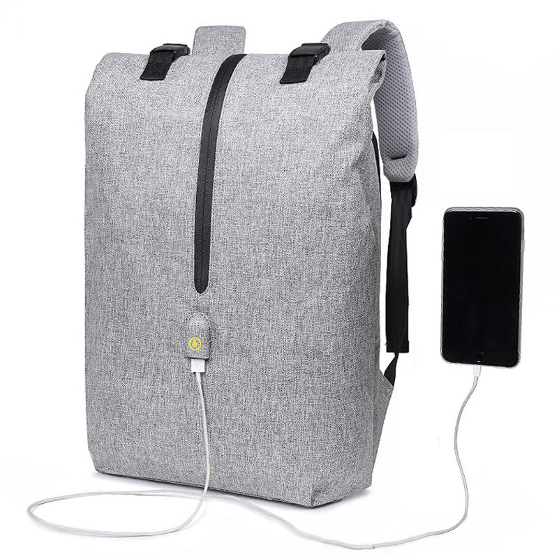 5ec9e2894 US$ 78 - OneBling Anti-theft Security Men Canvas Backpack Large Capacity  Waterproof Business Travel Bag USB Charging Port Laptop Bag School Bag ...