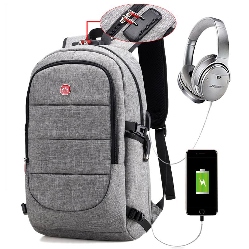 d64d8038e94 US  48.75 - Anti-theft Backpack USB Charging Port Laptop Bag Business Bag  Large Capacity Men Backpack - www.onebling.com