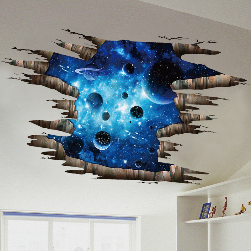 b11bc3533e83 US  14 - Deep Blue Planet Galaxy Stereoscopic 3D Floor Stickers Removable  Self-Adhesive Wall Stickers - www.onebling.com