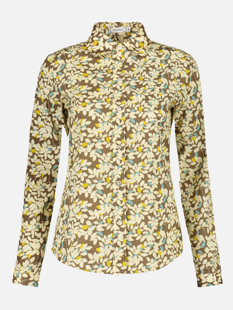 4a50753b84 OneBling Floral Women Blouses Long Sleeve Shirt Cotton Shirts. Loading zoom