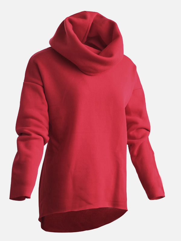 us 1995 women winter hoodies pricescarf collar christmas clothes solid color long sleeve fashion casual autumn sweatshirts wwwoneblingcom