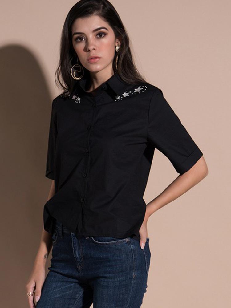 079e5572 US$ 16 - OneBling Embroidery Embellished Shoulder and Back Rolled ...