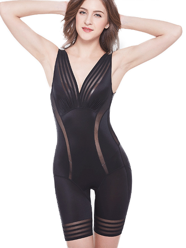 2f0700b332775 Reviews   Striped Contrast Open Crotch Smooth Body Shapewear -  www.onebling.com