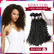 Top sale Brazilian / Peruvian / Malaysian / India  Virgin  Hair  Kinky Curl  200g & 300g