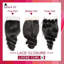 Lace Closure Loose Curl 9A
