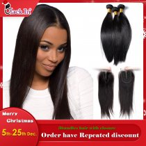 Hair with Closure (3+1) Silky Straight