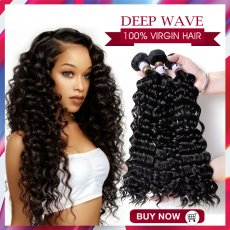 Top sale Brazilian / Peruvian / Malaysian / India  Virgin Hair  Deep Wave   200g  & 300g