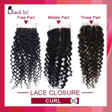 Lace Closure Curly  9A