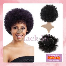 Human hair Afro wigs for free shipping  H308