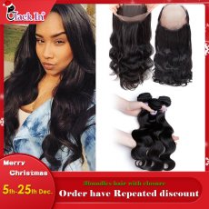 360 Closure With 2bundles Hair  Fashion & Popular style  Hot selling - Body wave