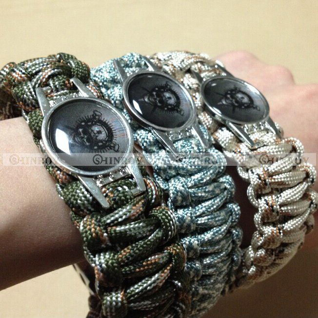 Us 1 38 Skull Paracord Survival Tactical Bracelet Edc Outdoor Rope Buckle Www Outdoorgogo