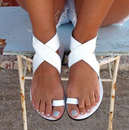 9cc97d1164e US  48 - Arden Furtado 2018 summer new style flat sandals white gladiator  casual shoes for woman fashion shoes women girls - www.ardenfurtado.com