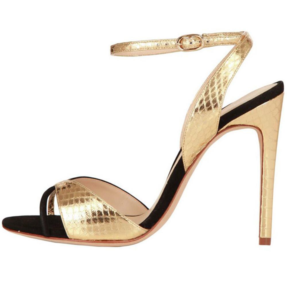 d40536d31adf US  49 - summer stilettos peep toe gold silver serpentine sandals party  shoes fashion ladies women shoes big size - www.ardenfurtado.com