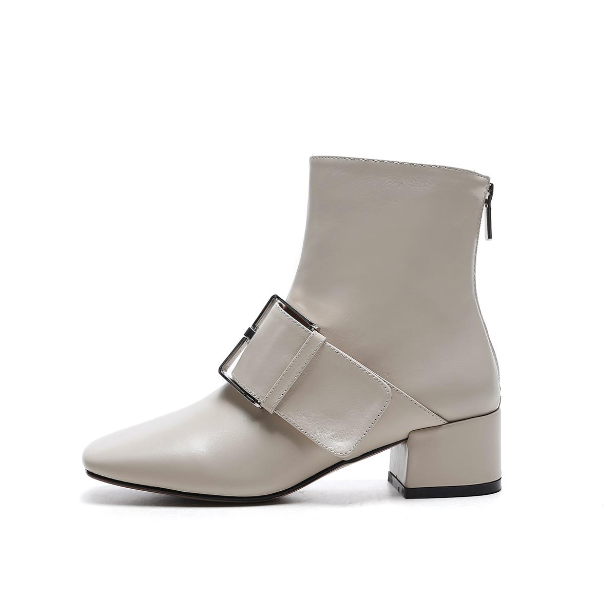 cd8776fa72f7 US  61 - Arden Furtado Size 34-40 Fashion Women Boots buckle Boots Ladies  Winter Ankle Boots square heels short boots - www.ardenfurtado.com