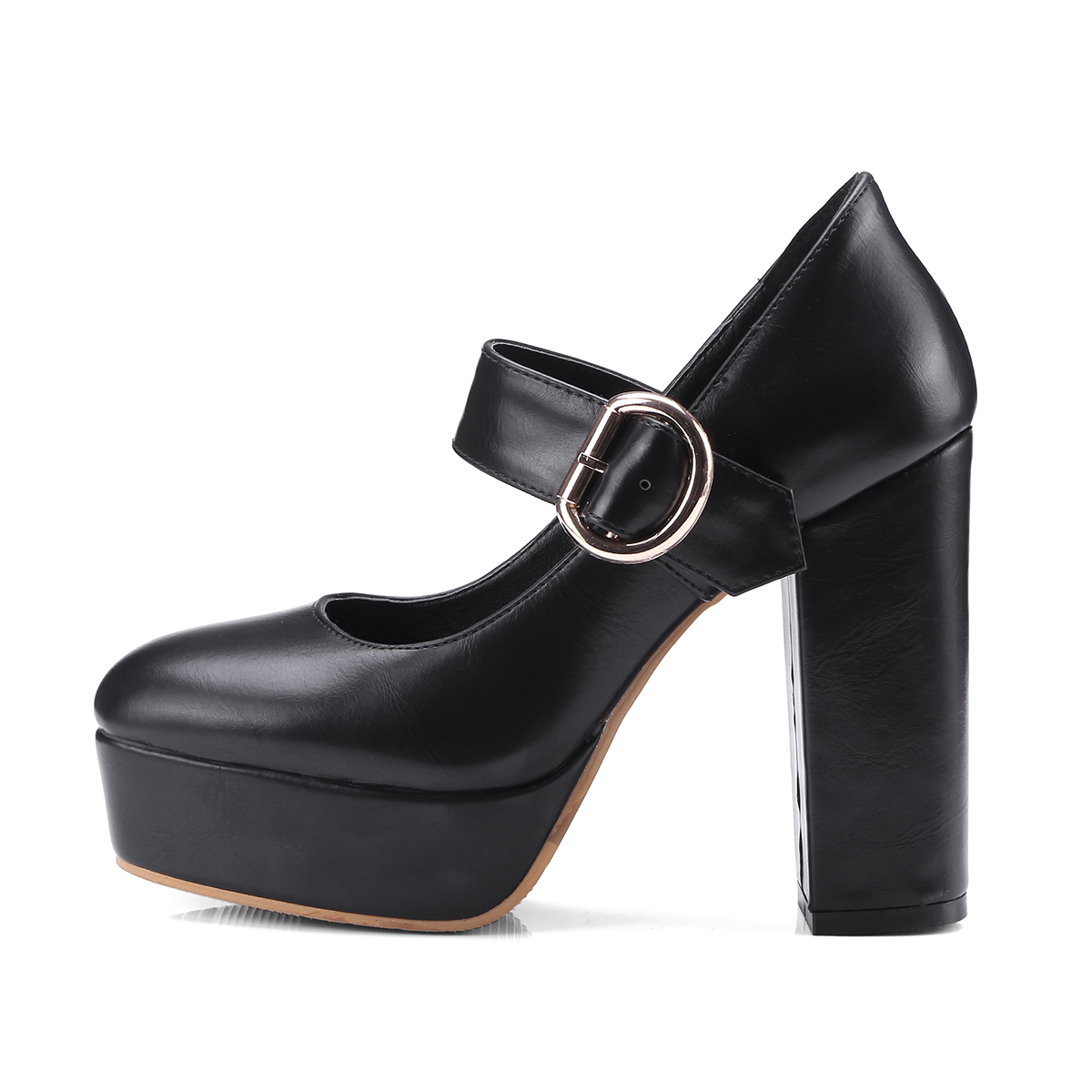 44ed114a0f9 US  45 - spring autumn small size chunky heels platform round toe high heels  big size pumps shoes woman - www.ardenfurtado.com