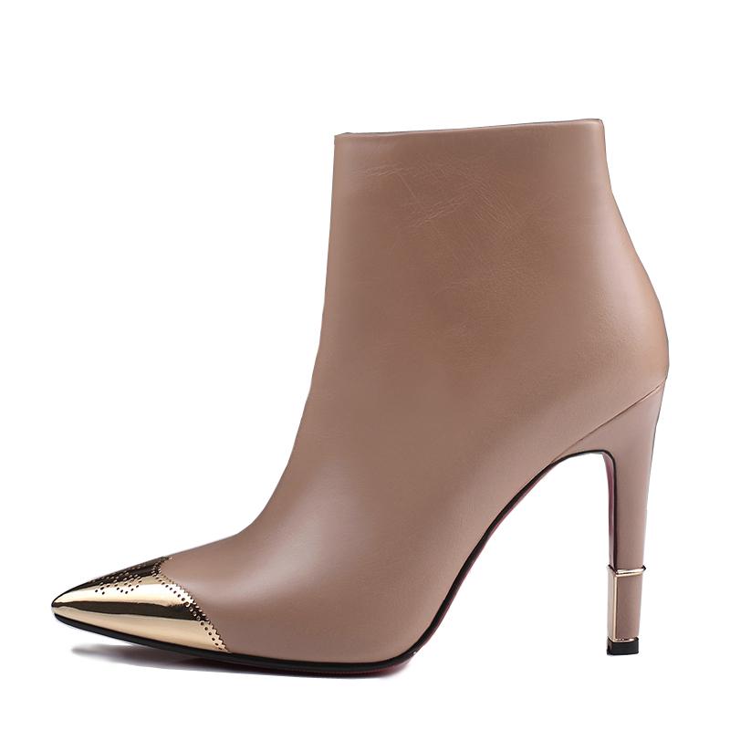75983f463fa US  65 - Arden Furtado winter fashion shoes woman genuine leather ankle boots  sexy high heels short boots elegant pointed toe Stilettos -  www.ardenfurtado. ...