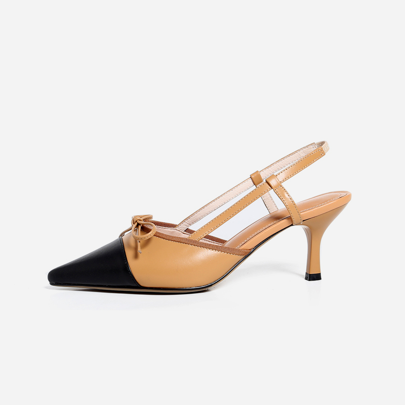8a2fe879c4176 US  49 - Arden Furtado 2019 summer med heels 5cm stilettos genuine leather  butterfly knot fashion sandals shoes woman back strap sing back mules ...