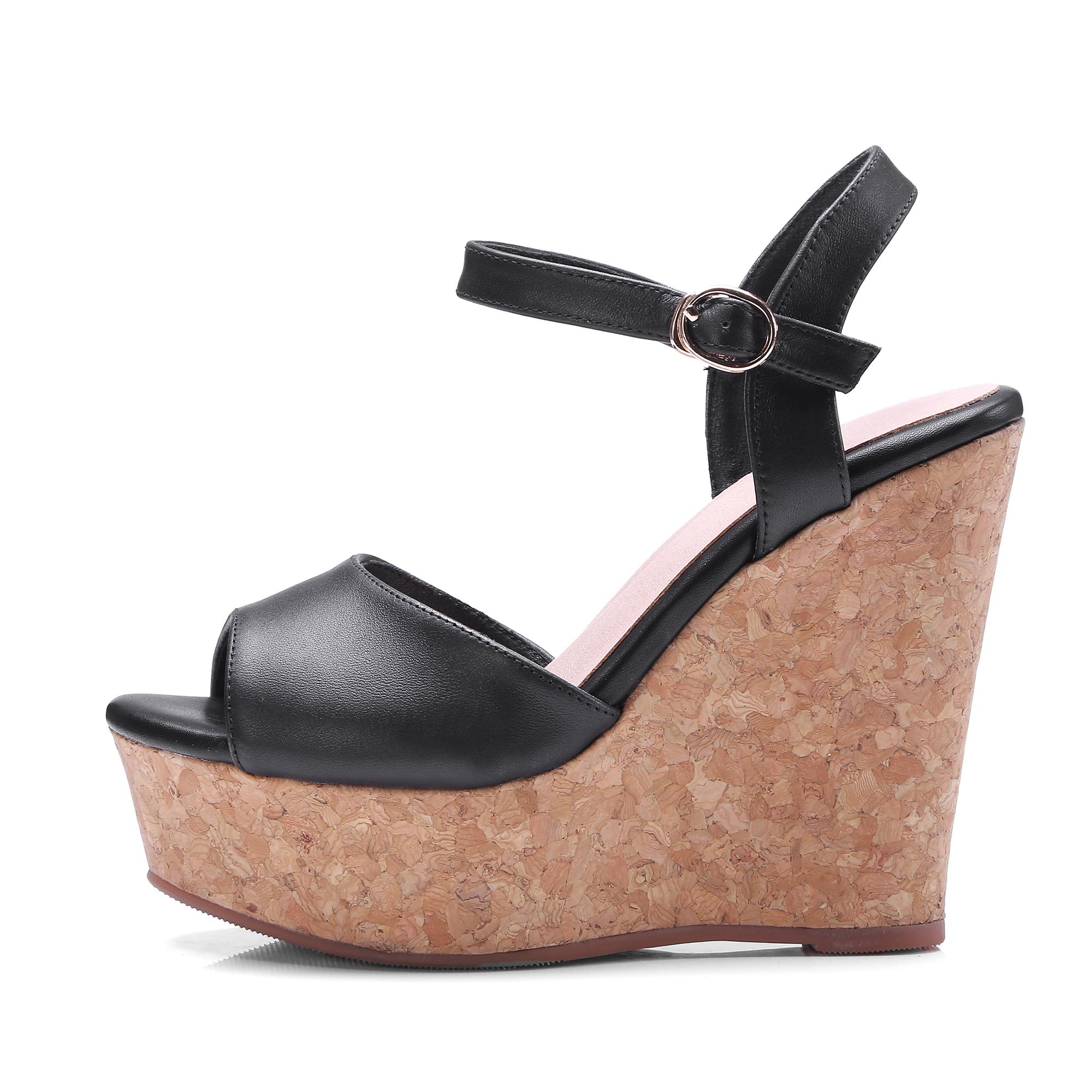 94bd1abab US  60 - Arden Furtado 2018 summer high heels 12cm fashion genuine leather platform  wedges ladies green sandals peep toe shoes ladies - www.ardenfurtado.com