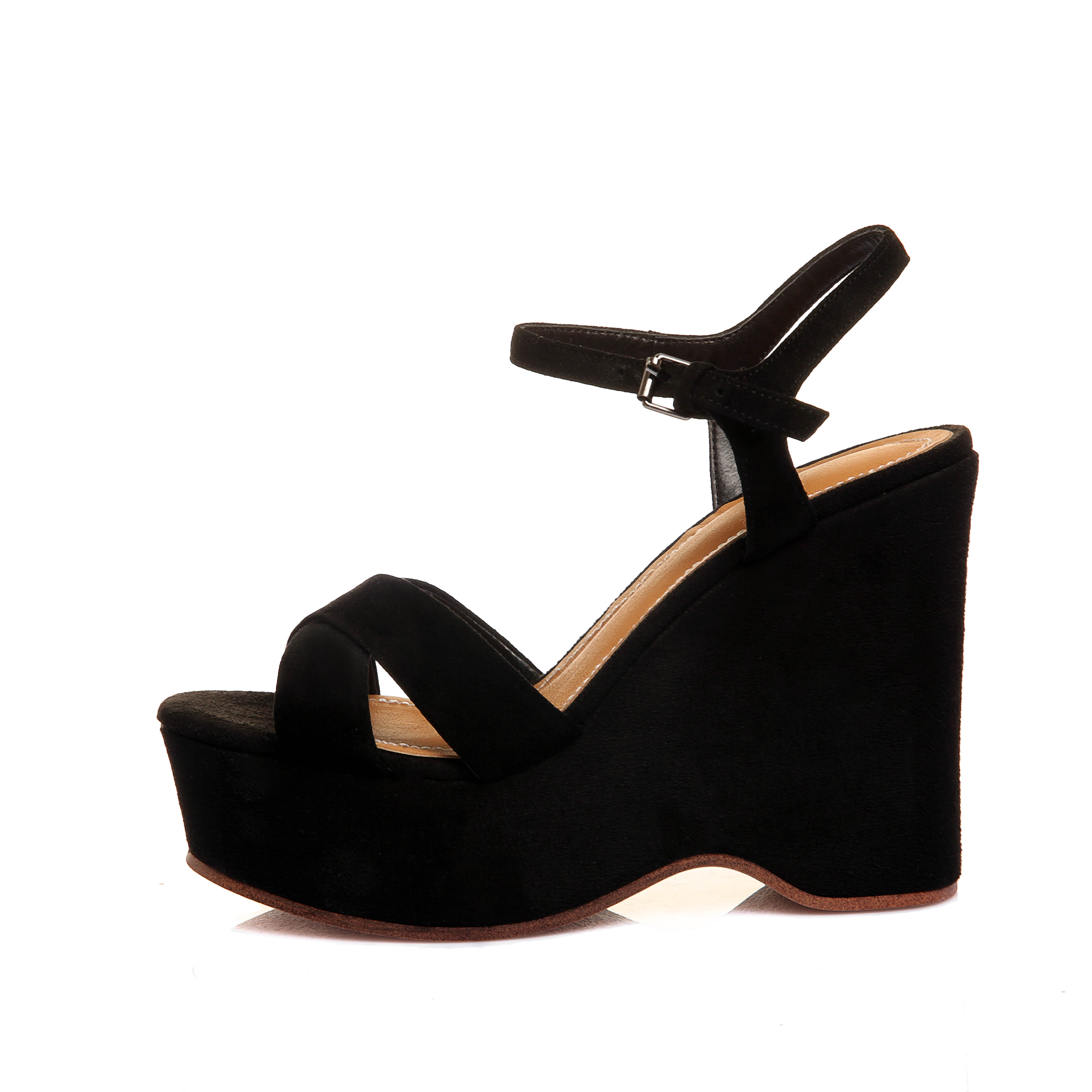 5e87631ef63b1 US  60 - Arden Furtado 2018 summer high heels buckle strap genuine suede  casual platform wedges fashion sandals shoes buckle strap girls -  www.ardenfurtado. ...