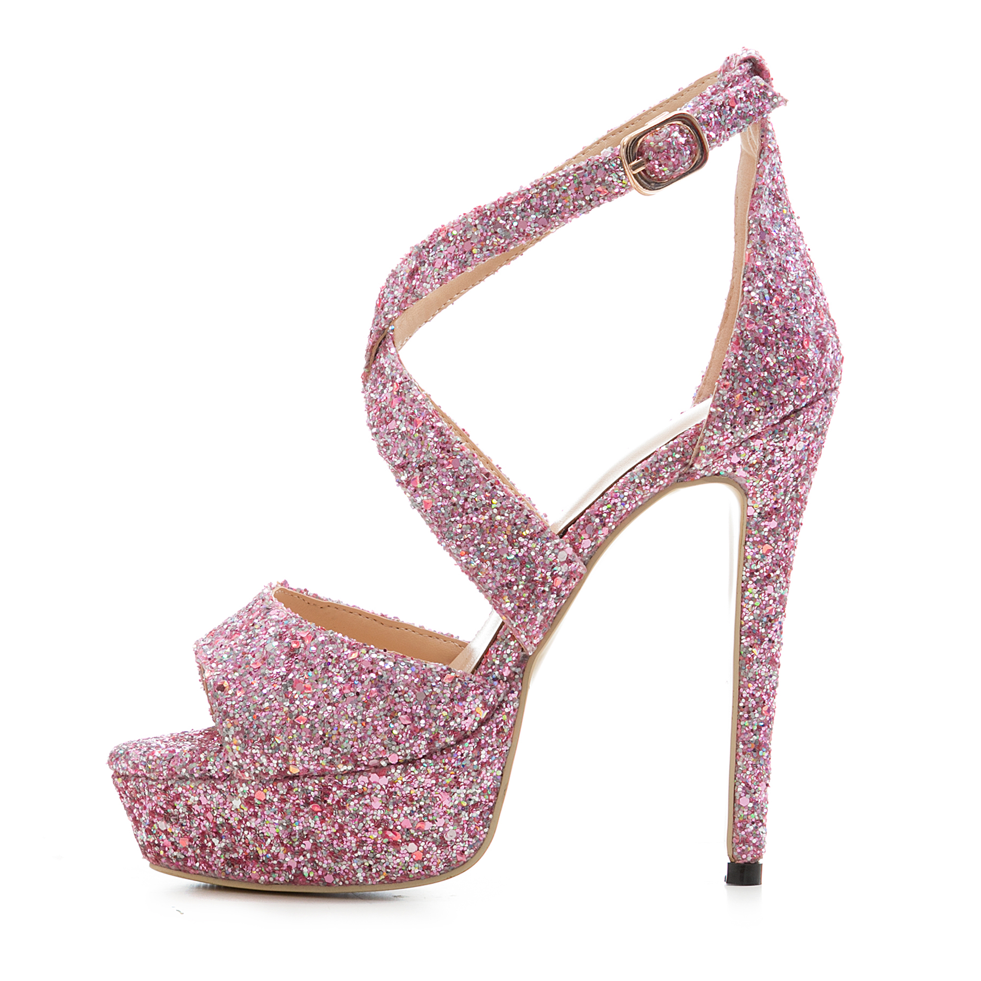 03cc434636a Arden Furtado 2018 summer sexy high heels 14cm platform bling bling  sequined cloth big size 40-43 cover heels fashion sandals
