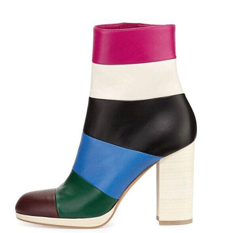 6cbb3cf1fd4 US  60 - Arden Furtado 2018 spring autumn rainbow fashion ankle boots shoes  for woman big size 40-45 high heels 11cm ladies boots winter -  www.ardenfurtado. ...