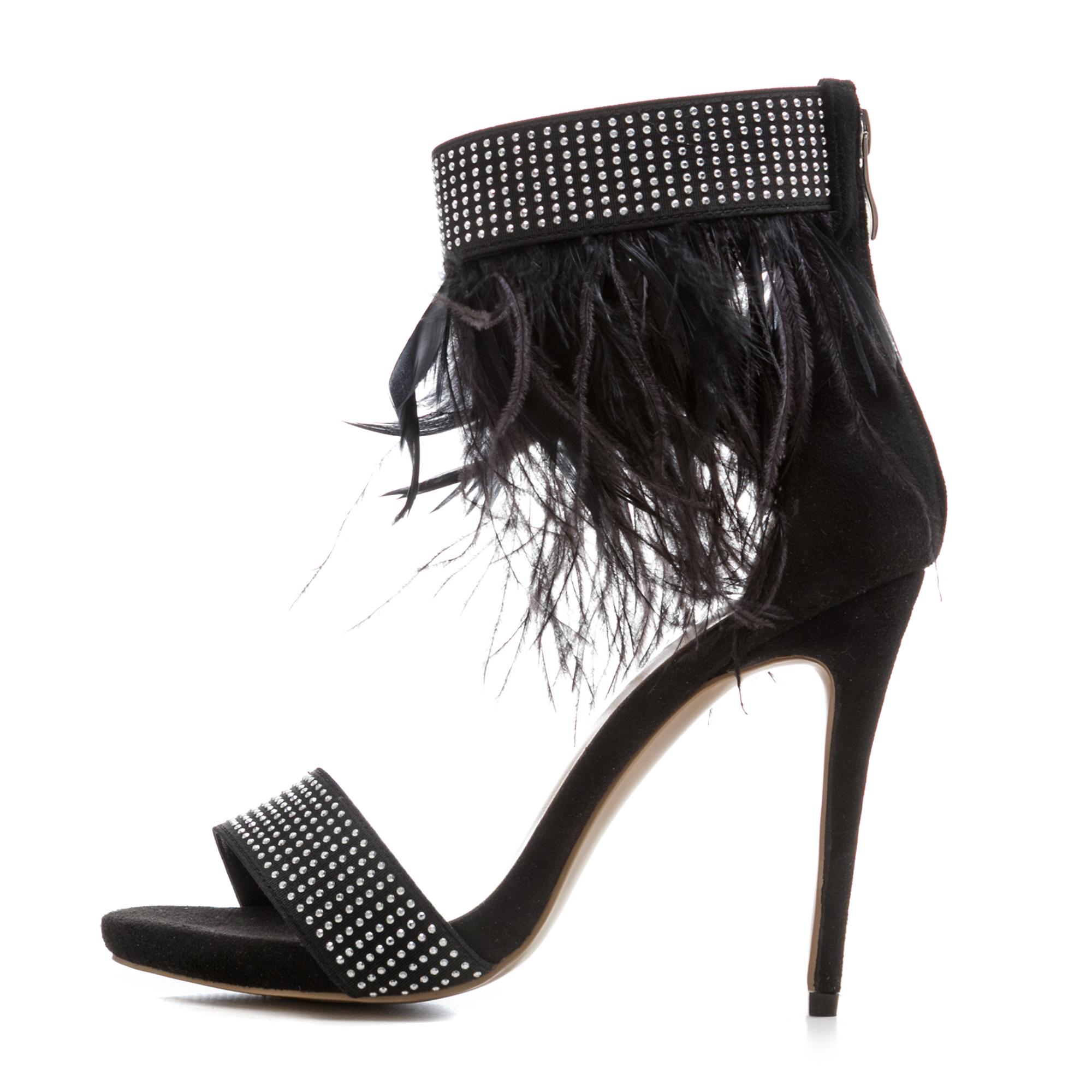 06d3f21ab506 US  60 - Arden Furtado 2018 summer fashion sandals feathers back zipper summer  high heels stilettos ankle strap shoes sexy ladies women -  www.ardenfurtado. ...