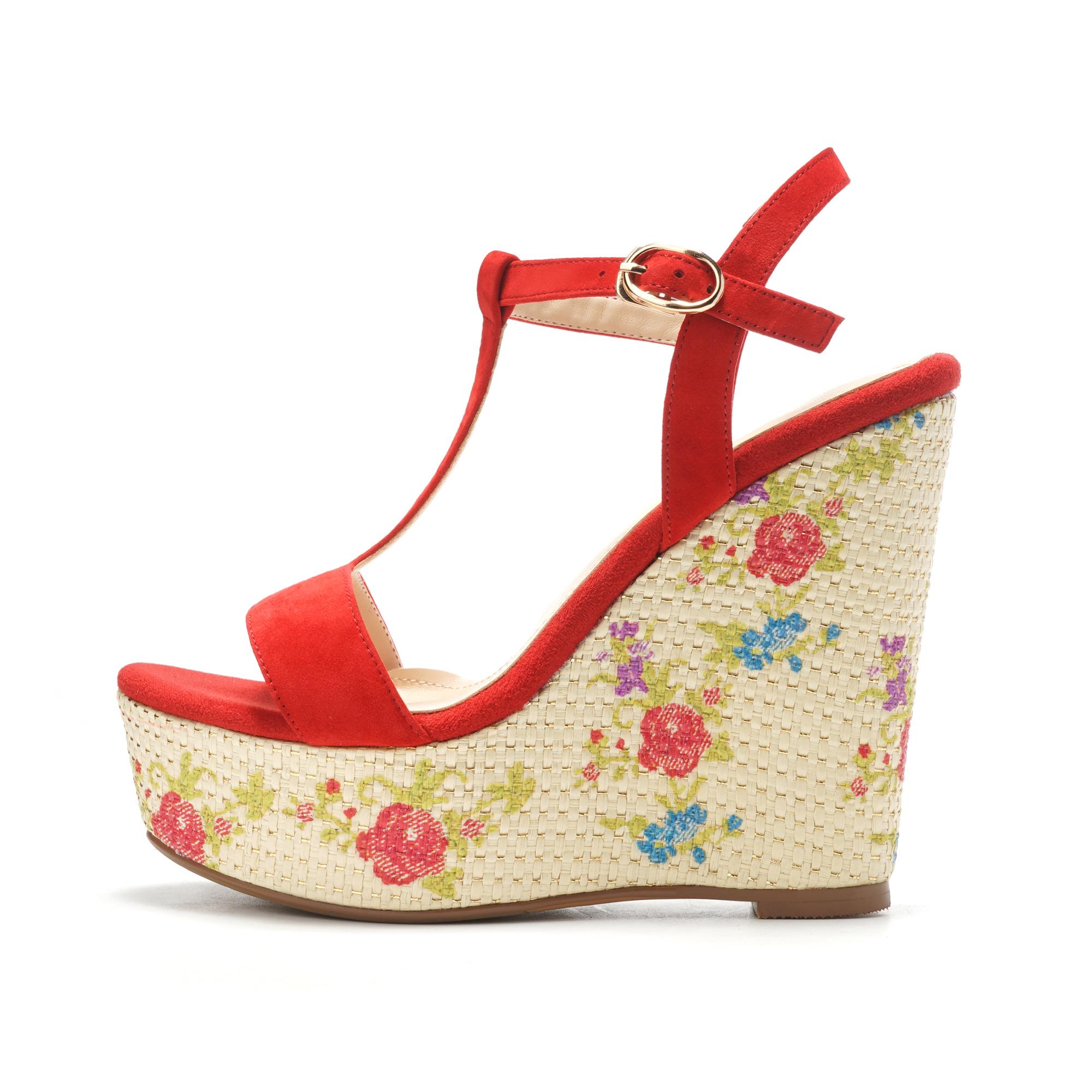 55ff9ae7a58b2 US  49 - Arden Furtado 2018 summer new high heels wedges platform T-strap  peep toe fashion flowers sandals shoes for woman genuine suede -  www.ardenfurtado. ...