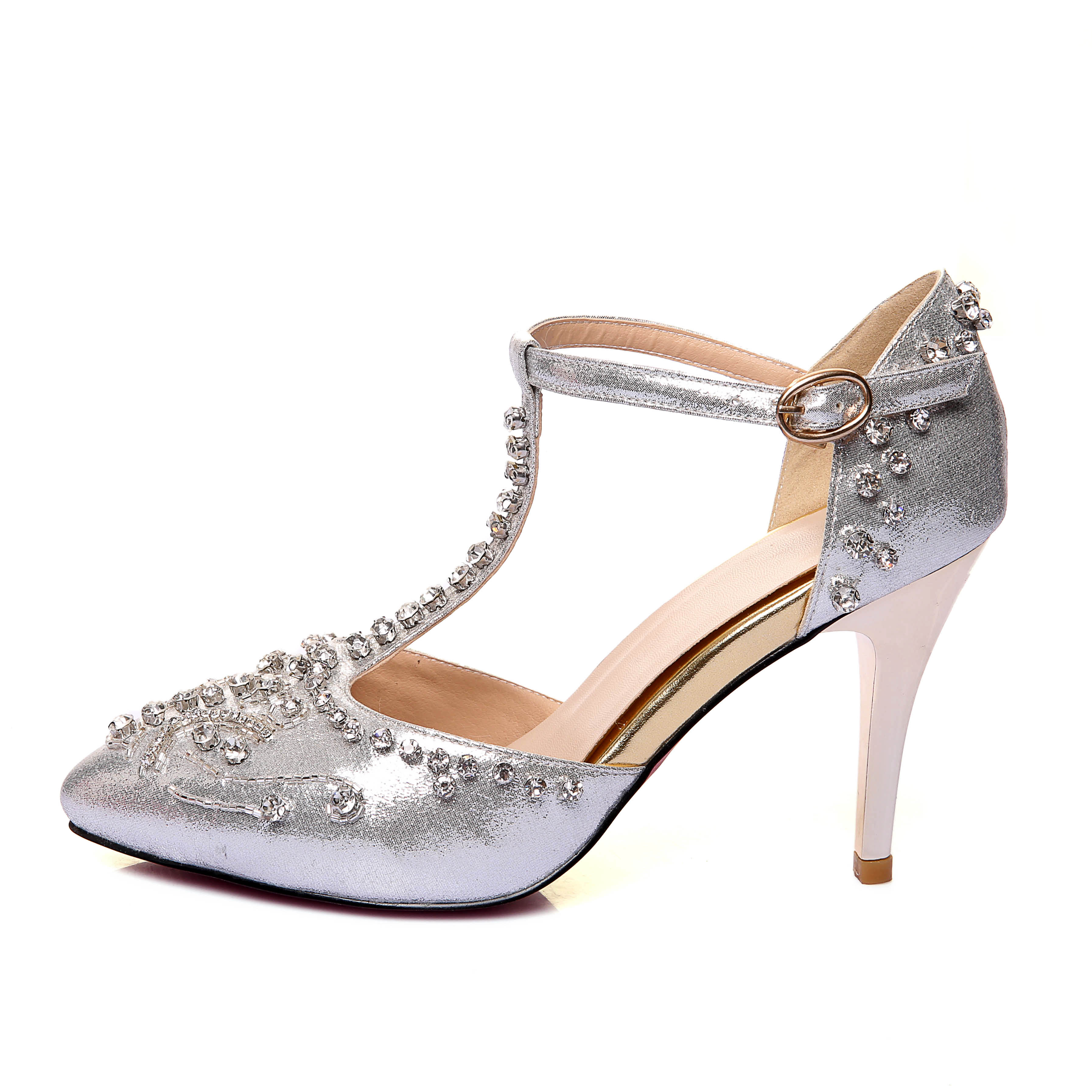 cde01dd7d US  49 - Arden Furtado 2018 spring summer silver red crystal flowers high  heels 9cm stilettos closed toe T-strap sandals wedding shoes -  www.ardenfurtado. ...