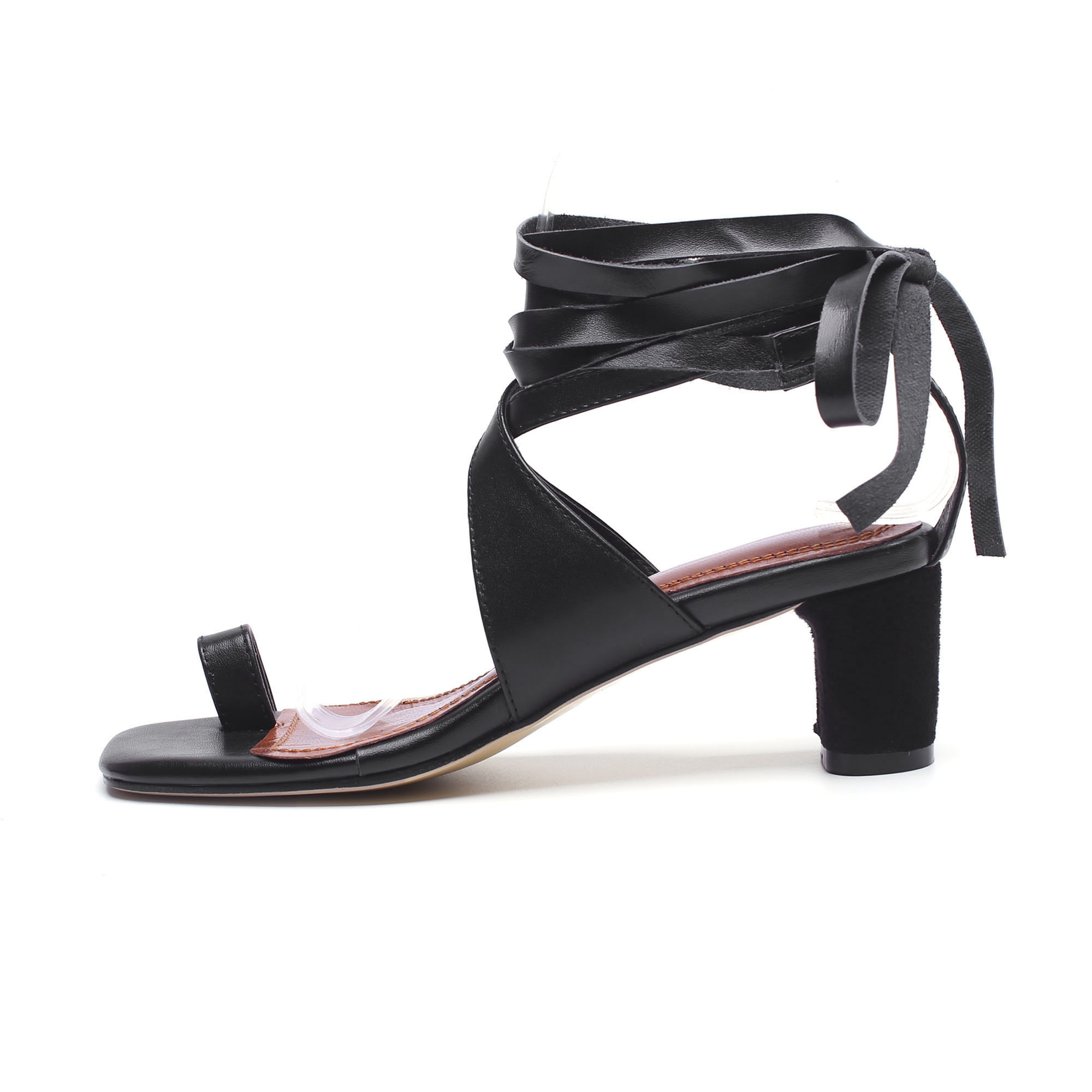 b67859de1159 US  60 - Arden Furtado 2018 summer med heels 5cm ankle strappy big size  40-43 genuine leather fashion sandals small size 33 shoes women -  www.ardenfurtado. ...