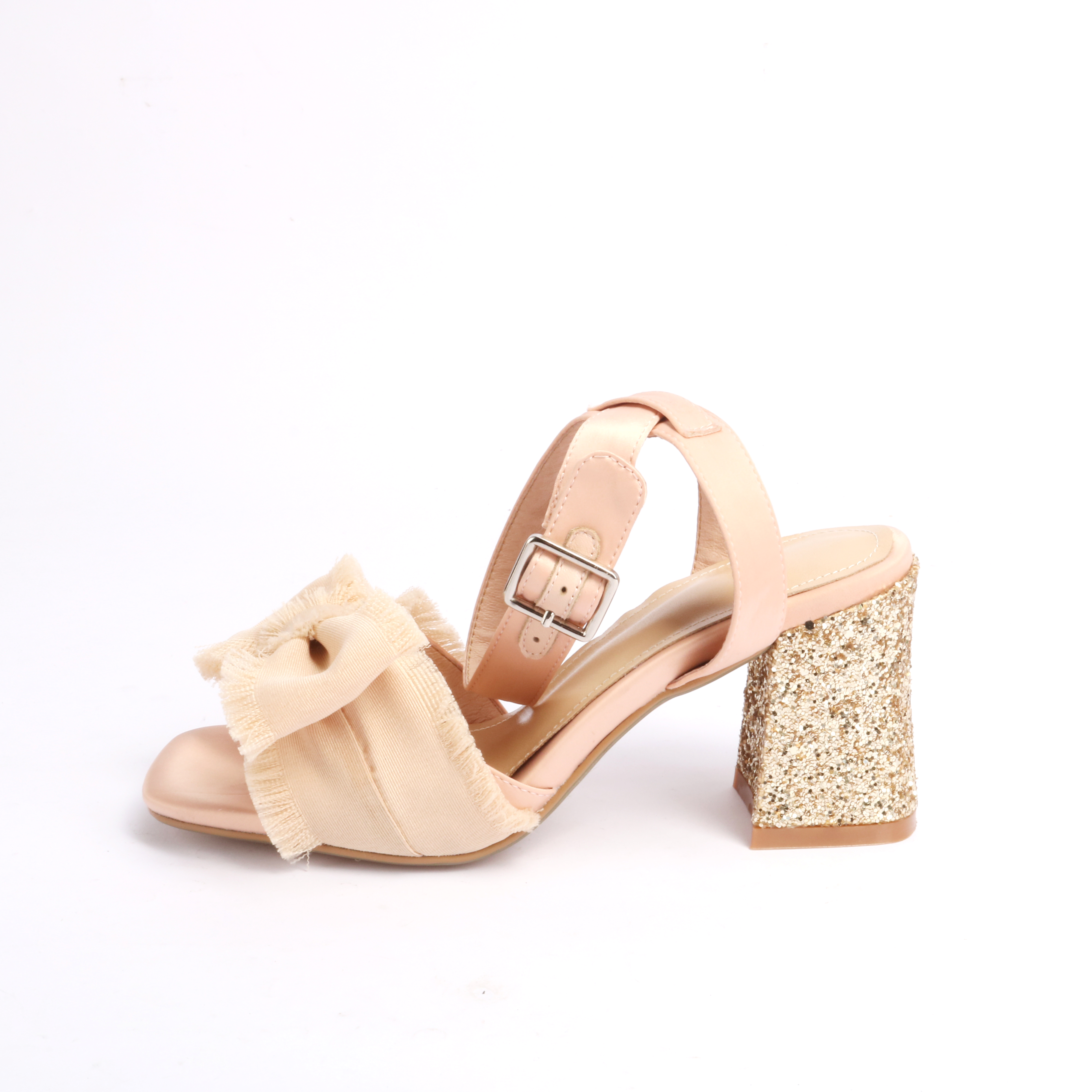 0602d78916482 US  46 - Arden Furtado 2018 summer high heels bling bling chunky heels  butterfly knot square heels fashion sandals shoes for woman ladies ...