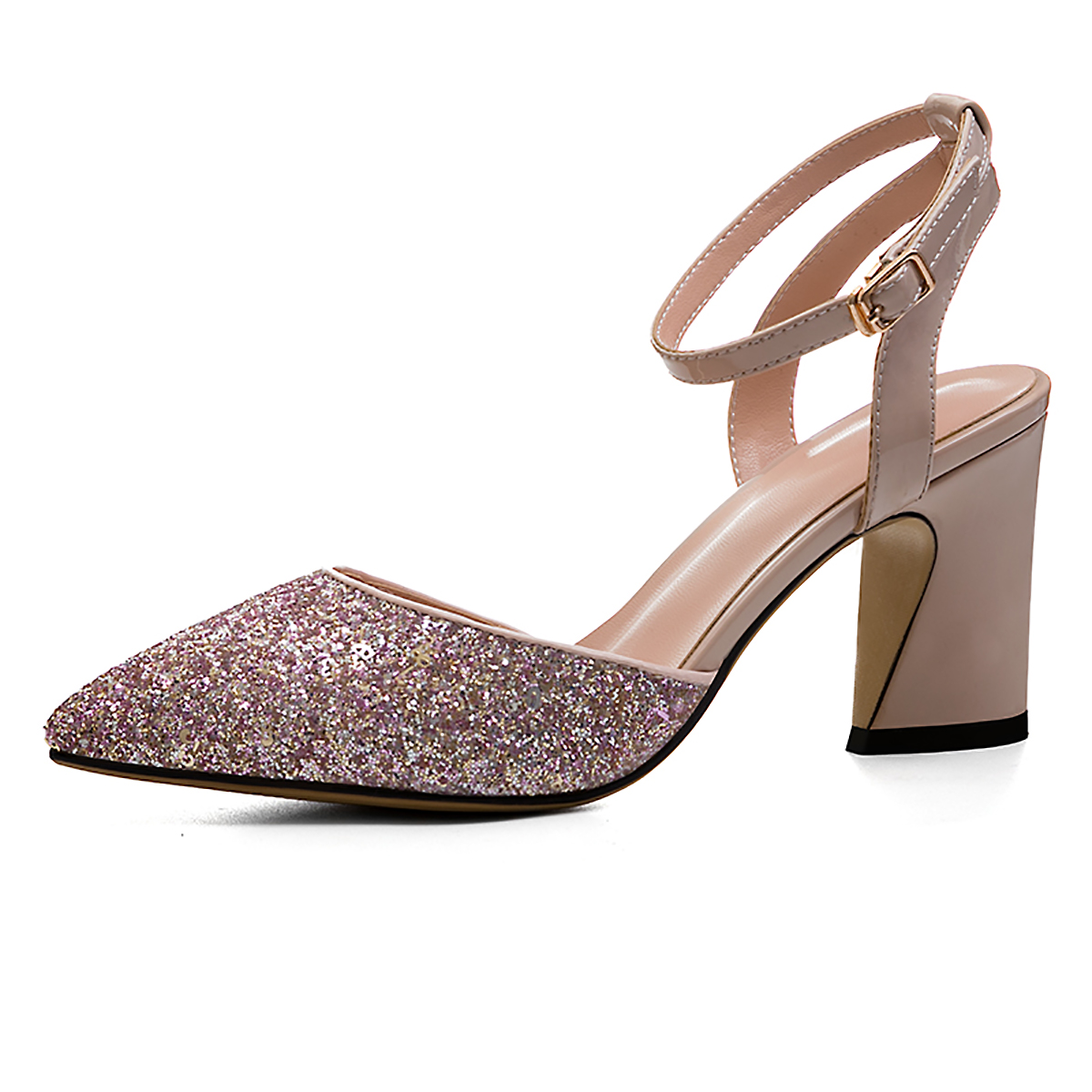 e4db873c392459 US  60 - Arden Furtado new 2018 summer high heels 8cm bling bling pointed  toe ankle strap fashion sequined sandals for woman party shoes -  www.ardenfurtado. ...