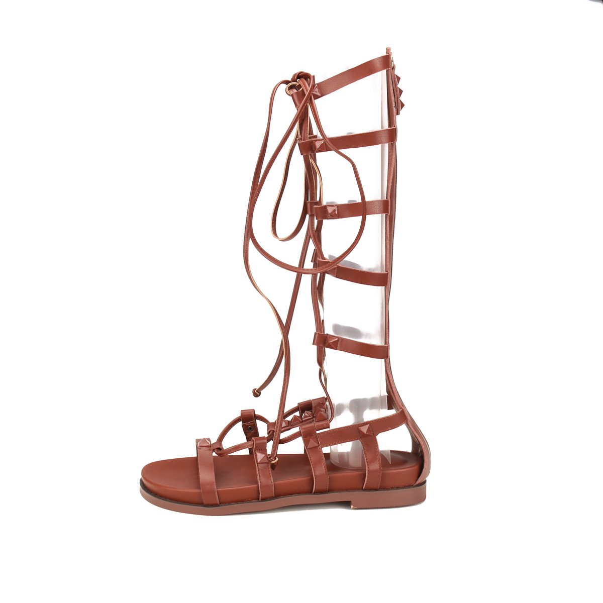 f3f1726375cec US  53 - Arden Furtado 2018 new summer flats casual gladiator genuine  leather back zipper cross-tied sexy sandals shoes for woman ladies -  www.ardenfurtado. ...