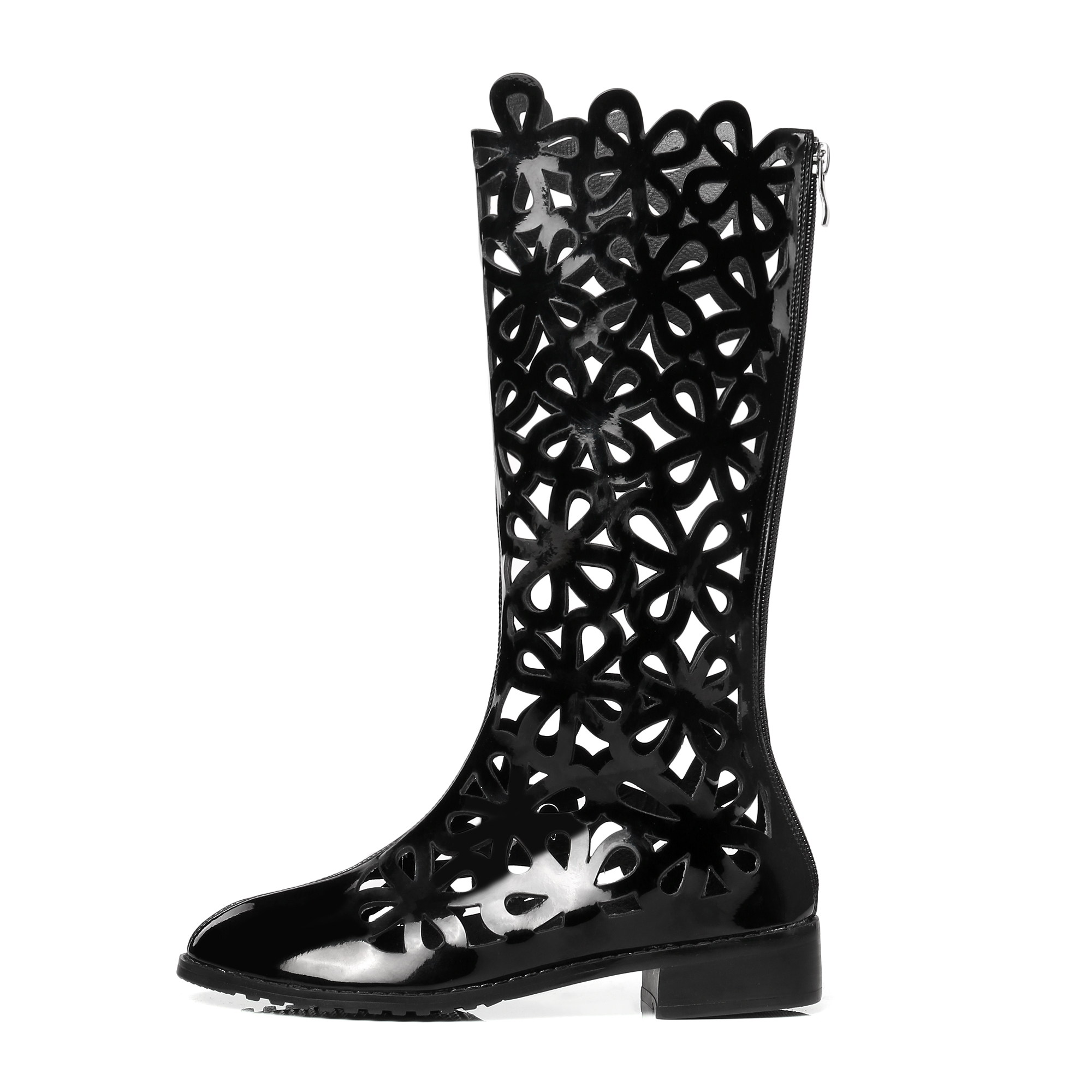 077d594d4ae US  55 - Arden Furtado 2018 spring summer casual fretwork gladiator zip knee  high boots big size small size flat summer boots shoes woman ...