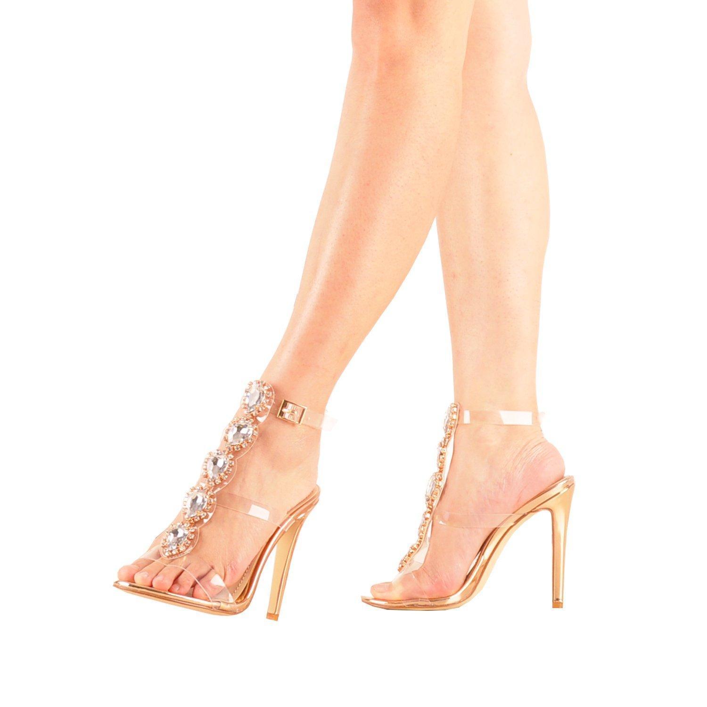 a8feacd672755 US  51 - Arden Furtado new 2018 summer pvc high heels 12cm party shoes  fashion crystal sandals elegant woman clear shoes women T-strap -  www.ardenfurtado. ...