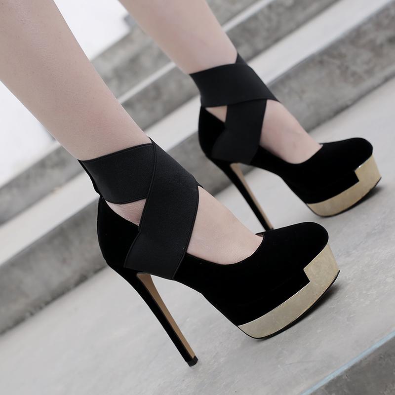 99b1db3156 US$ 45 - 2018 spring autumn slip on platform red wedding shoes high heels  13cm round toe black night club shoes stilettos - www.ardenfurtado.com