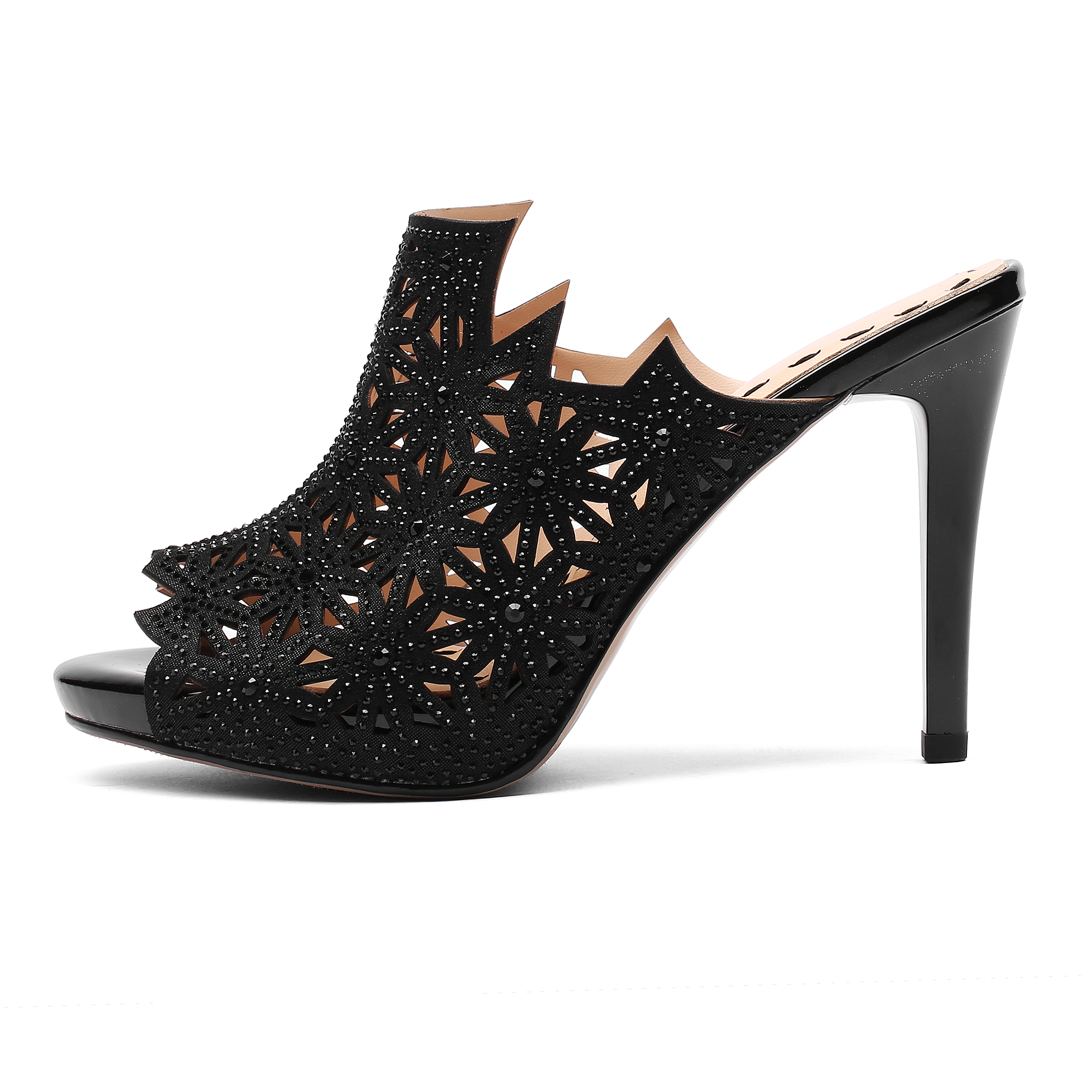 36bcfbc4c US  53 - 2018 summer high heels 9cm platform peep toe size 33 fretwork  evening party shoes mules - www.ardenfurtado.com