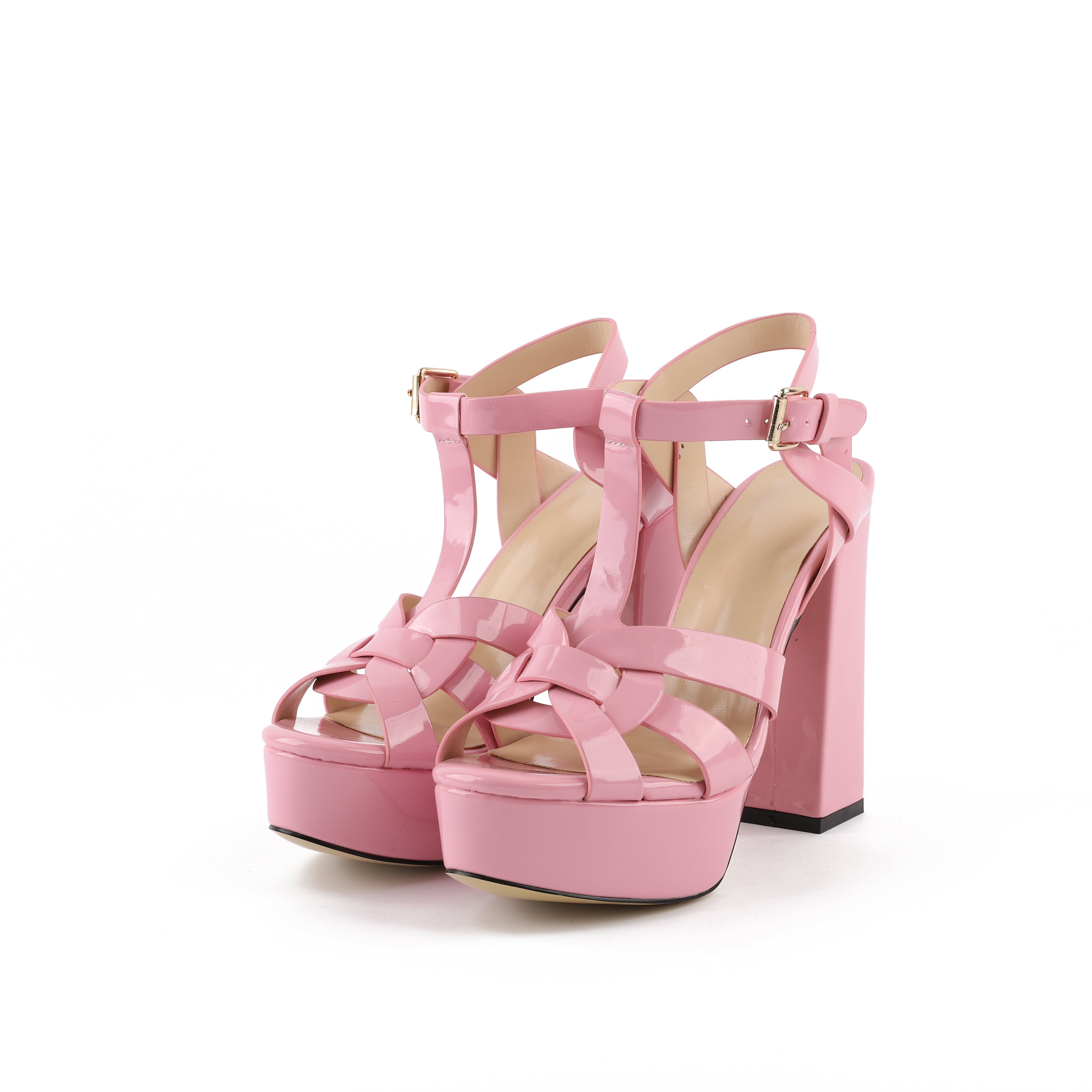 f3ed52fc49e7 US  49 - Arden Furtado summer high heels 12cm platform peep toe chunky  heels pink fashion casual sandals shoes for woman T-strap -  www.ardenfurtado.com