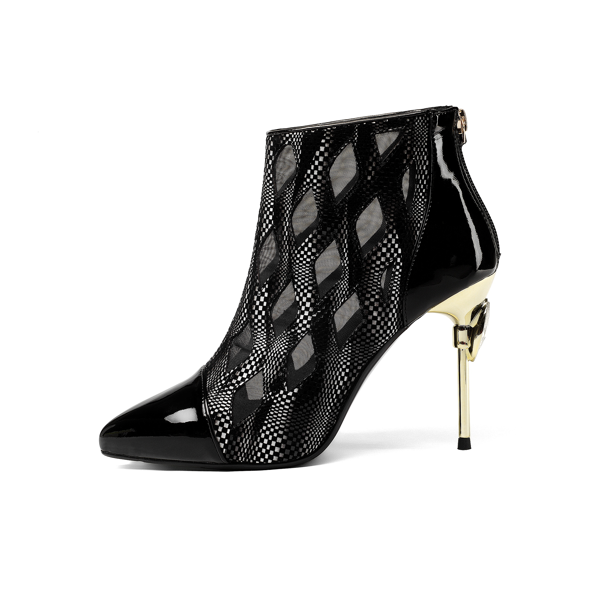 462209ad839 US  60 - Arden Furtado 2018 spring summer autumn fashion high heels 9cm  sexy ankle boots zipper pointed toe - www.ardenfurtado.com