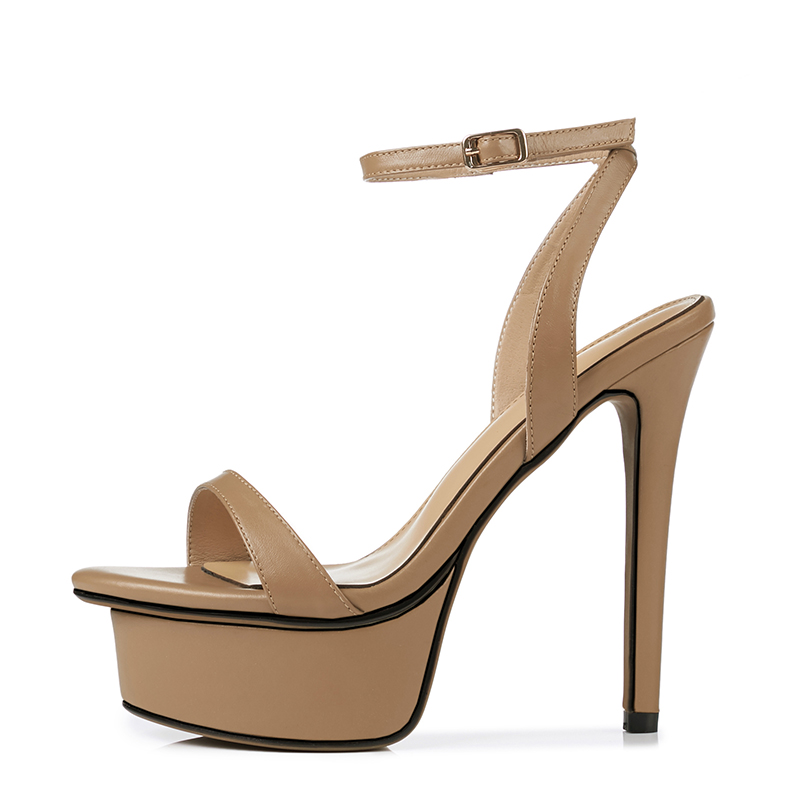ac97964a079 US  60 - Arden Furtado 2018 summer extreme high heels 13cm stilettos ankle  strap genuine leather platform sandals shoes for woman ladies -  www.ardenfurtado. ...