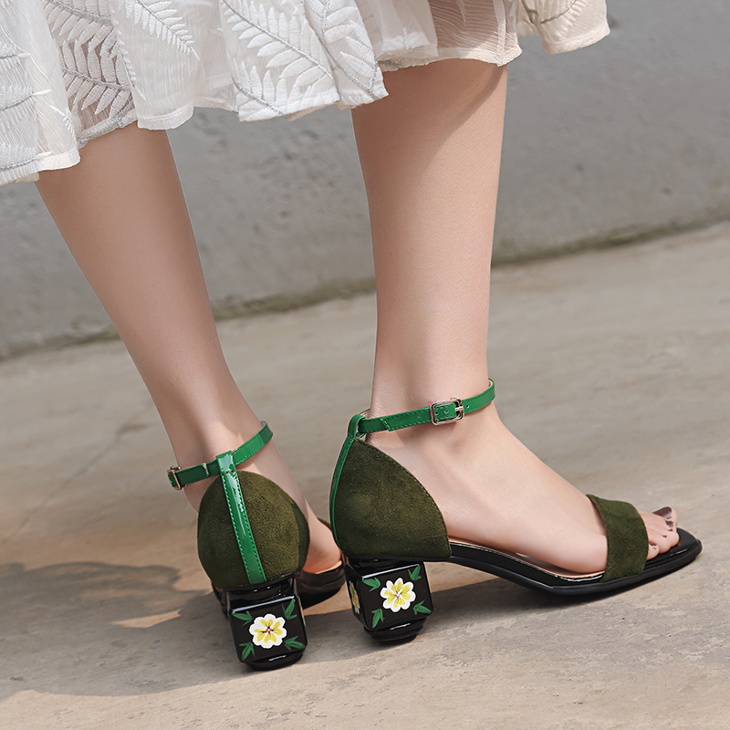 d3b4788d310 US  60 - Arden Furtado 2018 summer high heels 5cm ankle strap big size 40-43  fashion sandals shoes for woman flower heels strange heels -  www.ardenfurtado. ...