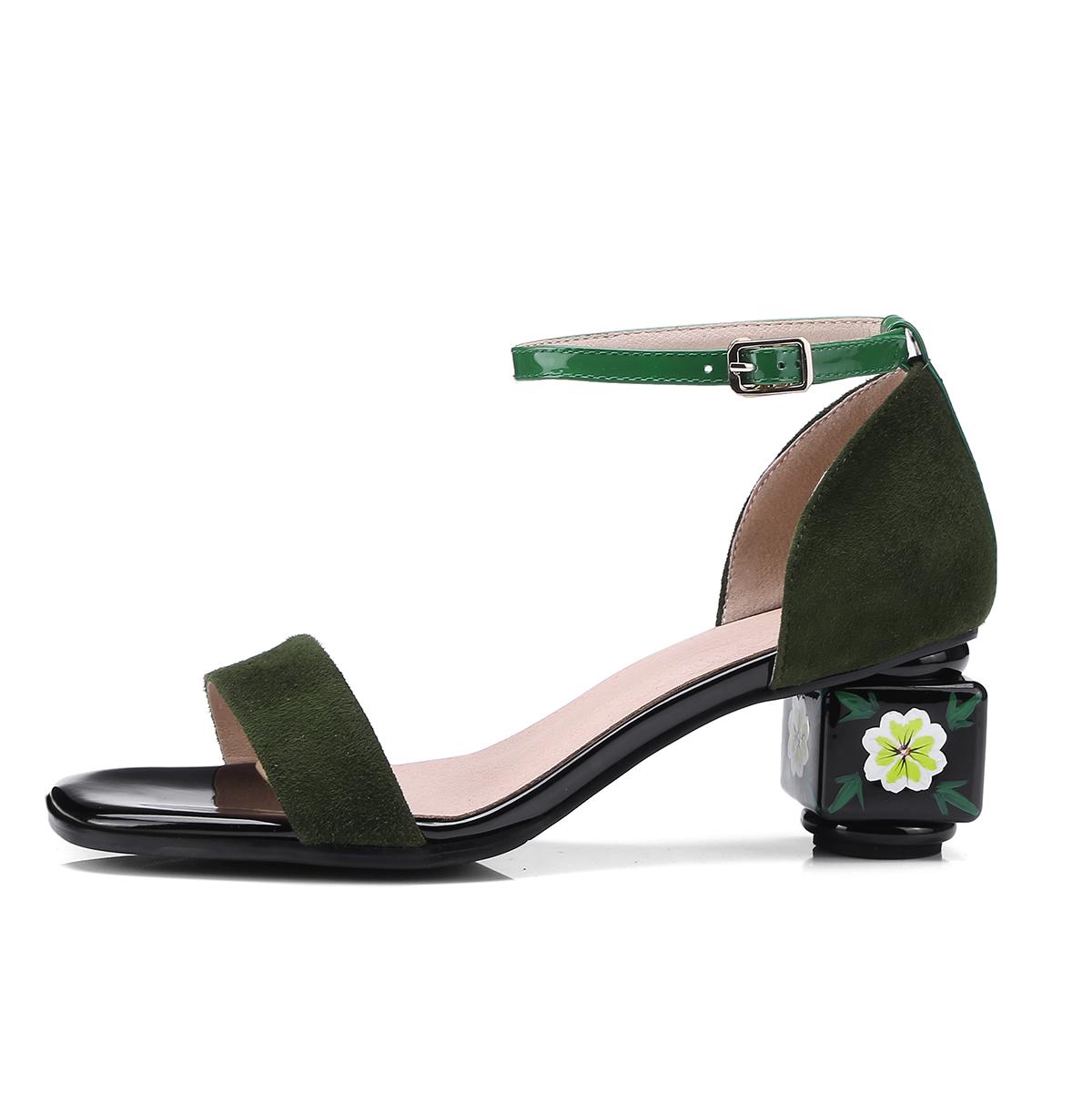 US  60 - Arden Furtado 2018 summer high heels 5cm ankle strap big size  40-43 fashion sandals shoes for woman flower heels strange heels -  www.ardenfurtado. ... 76c622ef0057