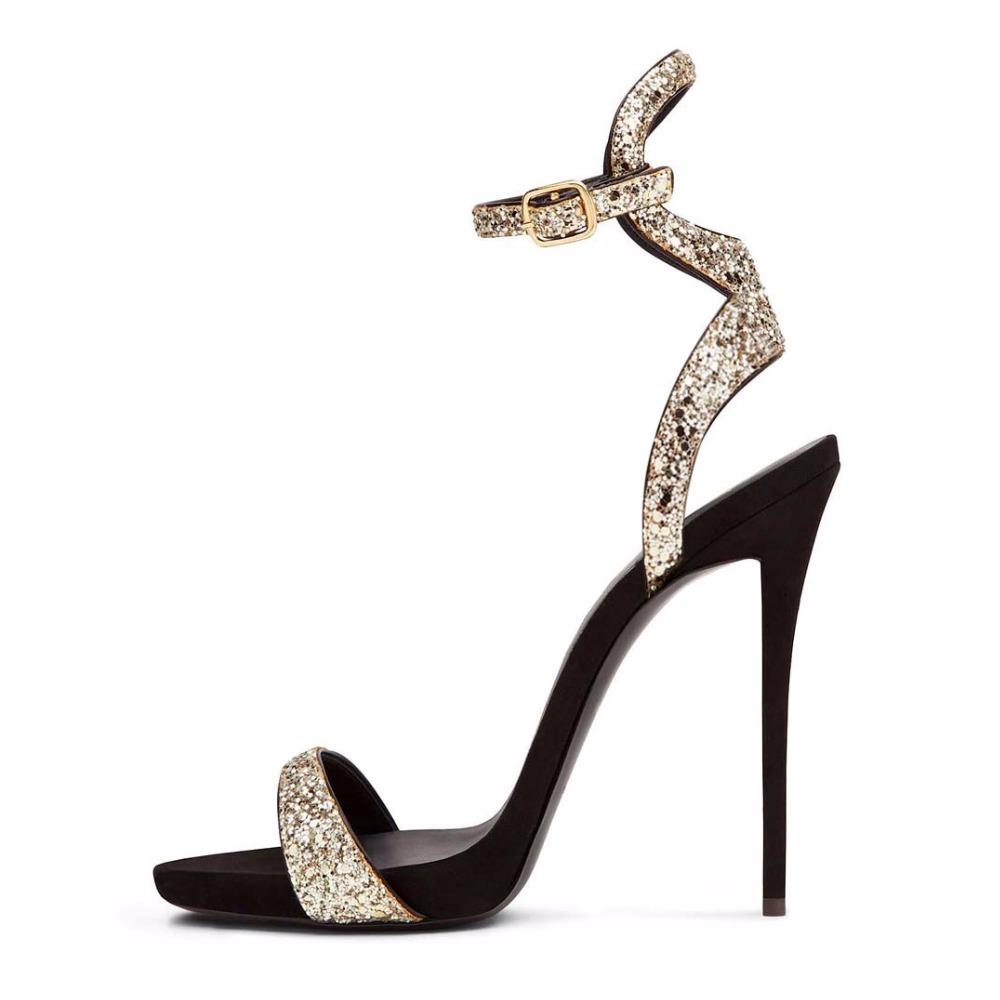 80107eb76ad24 US  55 - 2018 summer high heels 12cm stilettos platform ankle strap sexy  sandals party shoes woman - www.ardenfurtado.com