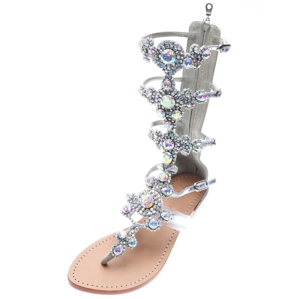 a5a5f8e494e US  64 - 2018 summer flat fashion diamond sandals summer boots crystal  rhinestone sexy big size ladies shoes gladiator - www.ardenfurtado.com
