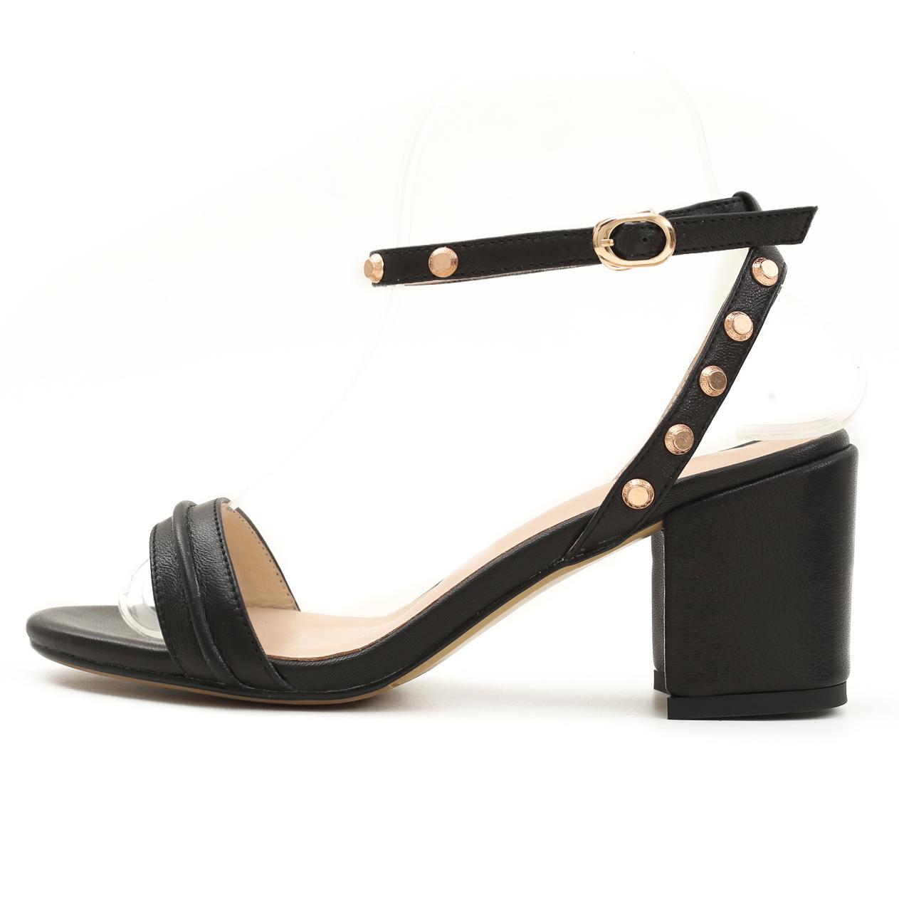 9fc6b847e92 US  47 - 2018 summer high heels open toe women s shoes genuine leather  chunky heels ankle strap sandals - www.ardenfurtado.com