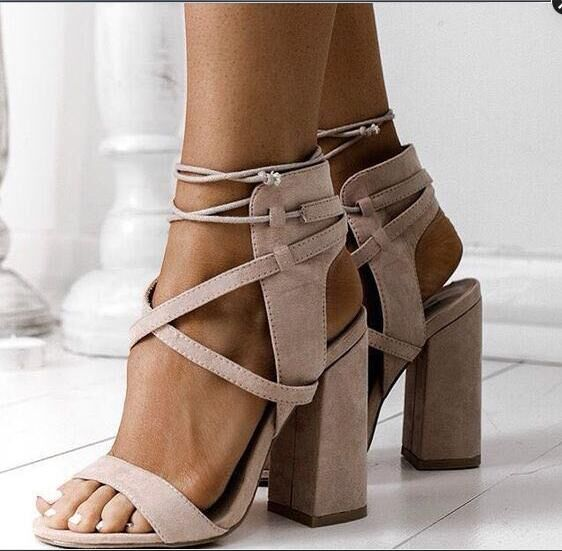 d6638c41769 US  47 - 2018 summer chunky heels fashion sandals shoes for woman ankle  strap woman ladies small size shoes - www.ardenfurtado.com
