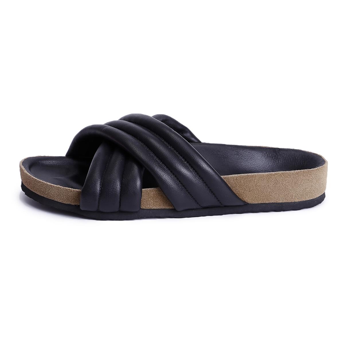 8616bc57045 US  45 - Women s Shoes genuine leather Spring   Summer Comfort Slippers    Flip-Flops Flat Heel open Toe - www.ardenfurtado.com